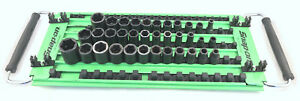 Snap on 35 Piece 6 Point Shallow Impact Socket Set With Green Tray