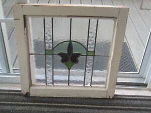 Vintage Leaded Stained Glass Window 21 X 21