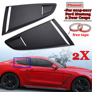 For 2015 2018 Ford Mustang Window Quarter Rear Louver Side Vent Scoop Cover