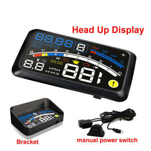 5 5inch Universal Obd2 Car Gps Hud Head Up Display Overspeed Warning System Retr