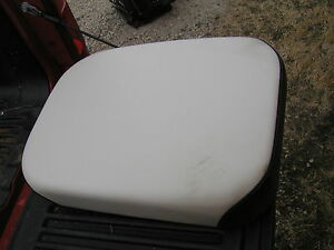 Farmall Series Tractor Speer Ih37 Deluxe Seat Bottom Black White Cushion Ih
