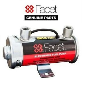 Genuine Facet Silver Top Fuel Pump 4 5 5 Psi For Up To 150 Bhp Carbs 476087e