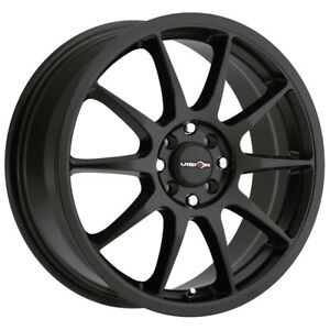 4 15 Inch Vision 425 Bane 15x6 5 4x100 4x114 3 38mm Matte Black Wheels Rims