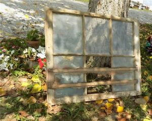 Old Wood Window Frame 6 Glass Panes Rustic Shabby Chic Cottage Decor 31 75x27nn