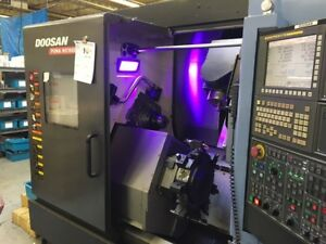 Used Doosan Puma Mx1600st Cnc Lathe 2012 2 Bar Twin Spindles Twin Turret Y axis
