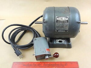 Original Atlas Craftsman 6 618 Mk2 Dunlop 1 3 Hp For rev Lathe Motor Prewired