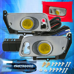 Yellow Fog Lights Left Right Side Driving Lamps For 92 95 Civic 2dr 3dr Coupe