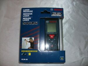 Bosch Glm 40 Laser Measure New 135 Ft 40 M Includes Pouch Multi Features