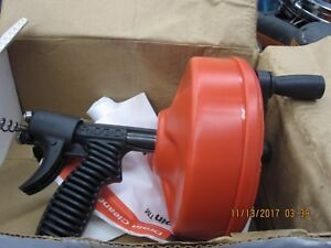 Ridgid Power Spin Drain Cleaner Snake Auger Cable Tool 88387