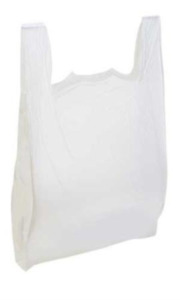 Royal Large Plastic Grocery Reusable T shirts Carry out Bag Plain White 1000ct
