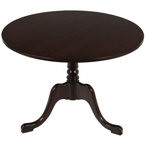 New Antique Style Round Cherry Tilt Top Pedestal Wine Side Accent Foyer Table 42