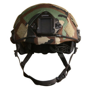 OPSUR-TACTICAL COVER FOR OPS-CORE FAST HELMET IN M81 WOODLAND CAMO ML