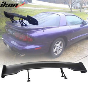 Fits Universal 57 Inch Abs Black Gt Wing Span Jdm Trunk Spoiler Wing 57 Inch