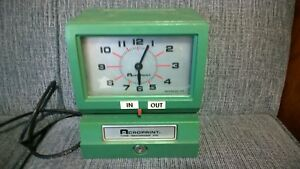 Acroprint 150nr4 Electric Print Heavy duty Standard Time Recorder Stamp No Key