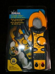 Ideal 61 746 Clamp Pro True Rms Clamp Meter 600a W lead Wires Br