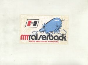 1960s Hurst Raiserback Heavy Duty Air Shock Original Sticker Damaged Wz8470