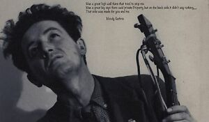 Woody Guthrie 20 X12 Photo Oklahoma Quote American Folk Singer