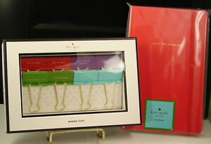 Kate Spade Paint The Town Red Notebook Set Of 8 Hold On Tight Binder Clips Nwt