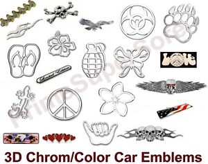 3d Emblem Logo Car Truck Decal Sticker Badge Back Trunk Decoration Self Adhesive