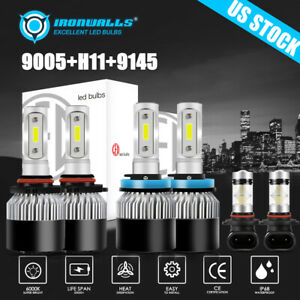 6x Cob Led Headlight Fog Light For 2009 2017 Dodge Ram 1500 2500 3500 4500 5500