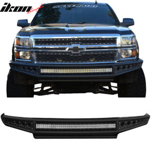 Fits 14 18 Chevrolet Silverado 1500 Off Road Front Bumper With Led Light Bars