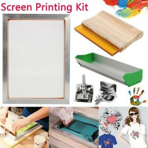 Screen Printing Kit aluminum Frame Hinge Clamp Emulsion Coater Squeegee