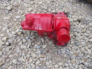 Massey Harris 33 Tractor Original Mh Hydraulic Pump Assembly W Drive Gear
