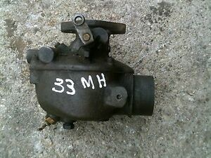 Massey Harris 33 Tractor Mh Engine Motor Good Working Carburetor