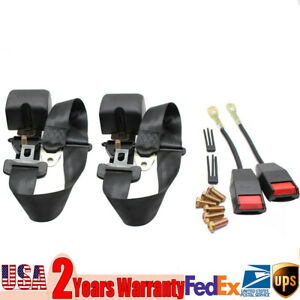 2 Pcs Of Automatic Three Point Car Seat Belt Kits For 2004 2013 Ford Mustang