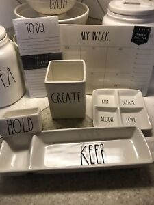 Magenta Rae Dunn Desk Office Set Keep Hold Create To Do My Week Split Dish
