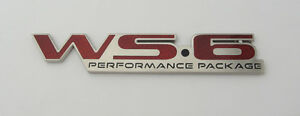 1996 2002 Pontiac Firebird Trans Am Ws6 Rear End Bumper Badge Emblem 96 02 New