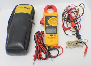 Fluke 902 True Rms Hvac Clamp Meter In Case With Leads