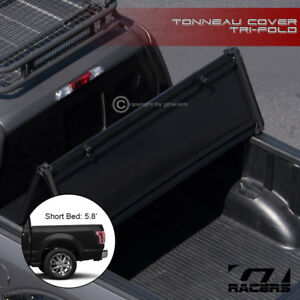 For 2019 Dodge Ram 1500 5 7 68 4 Short Bed Tri Fold Soft Vinyl Tonneau Cover