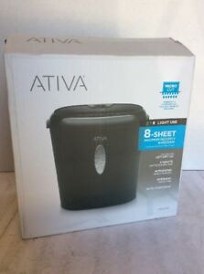 Ativa 8 Sheet Maximum Security Micro Cut Shredder
