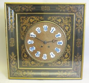 Very Large Heavily Inlaid 19th C French Baker S Clock C 1870s Antique