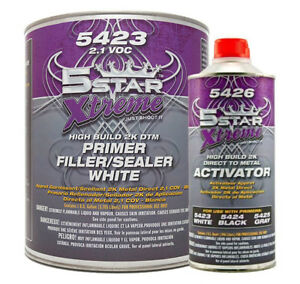 5 Star Extreme 1 Gallon Dtm Self Etching Primer White Kit With Reducer