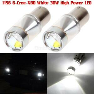 1 Pair Backup Light Led Bulbs 1156 1141 High Power 6 Cree 30w Projector Lens