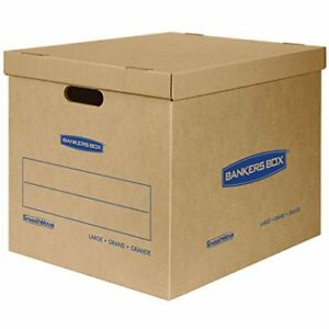 Bankers Box Smoothmove Classic Moving Boxes Tape free Assembly Easy Carry 21 X