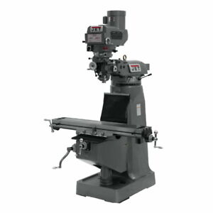 Jet 690184 Jtm 4vs Mill With 3 axis Acu rite 200s Dro quill