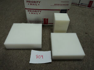 Cnc Mill Assorted Plastic White Delrin Acetal Block And Sheet Lot 3 Pcs 809