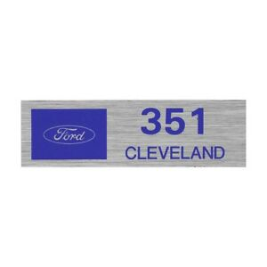 Valve Cover Decal Ford Oval 351 Cleveland