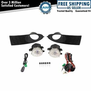 Add On Upgrade Clear Lens Fog Light Bulb Switch Wiring Kit For Dodge Journey New