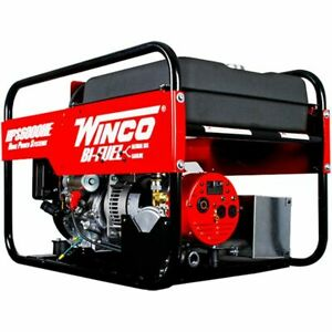 Winco Hps6000he 5500 Watt Dual Fuel Generator W Electric Start Honda Engin