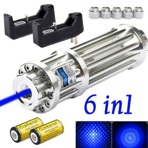 Military 405nm Blue Laser Pointer Pen Visible Beam Light 16340 Battery charger