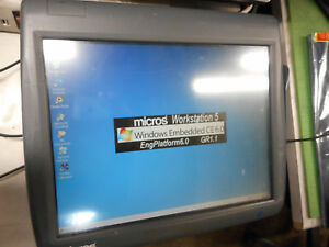 Micros Workstation 5 System Unit 400814 001 Touch Screen Windows Embedded Ce 6 0