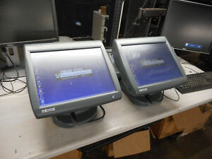Lot Of 2 Micros Workstation 5a System 2 400814 101 Touch Screen With Stand