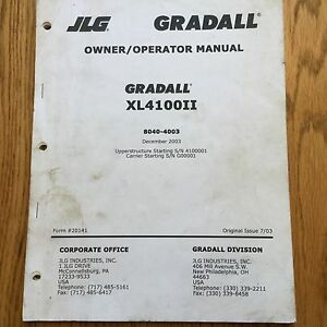 Gradall Xl4100 Ii Excavator Operator Manual Telescoping Boom Operation Guide