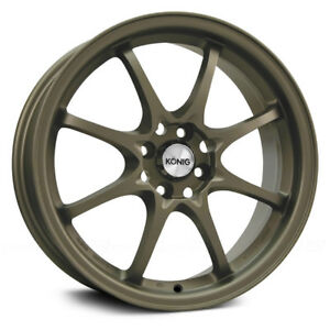 4 New 15 Inch Konig 72bz Helium 15x6 5 4x100 40mm Bronze Wheels Rims