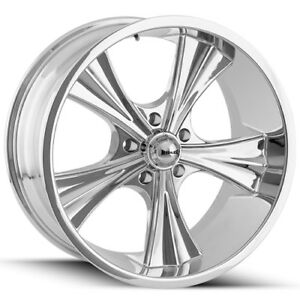 4 new 18 Inch Ridler 651 18x8 5x4 75 0mm Chrome Wheels Rims