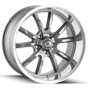 Staggered Ridler 650 Front 18x8 rear 18x9 5 5x4 5 0mm Gunmetal Wheels Rims